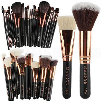 15 / 22pcs Kabuki Make up Brushes Set Foundation Blusher Powder Contour Brush
