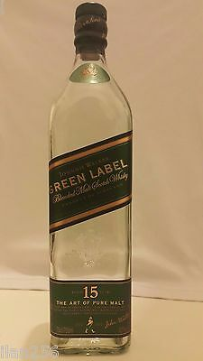 RARE Johnnie Walker Green Label empty Bottle Scottish Jony Walker whisky