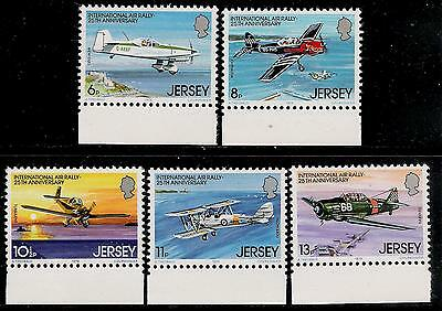 Great Britian JERSEY Old Beautiful Mint Stamps With Margin - Small Airplane