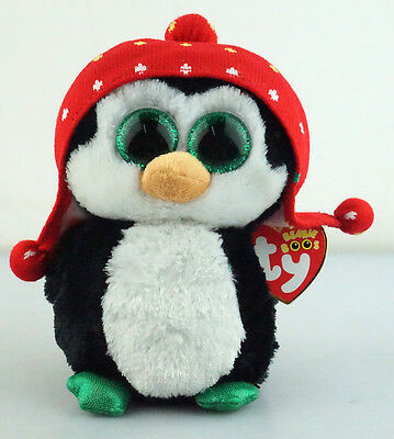 """6"""" TY Beanie Boos Christmas With Hang Tag Freeze Penguin Plush Stuffed Toys"""