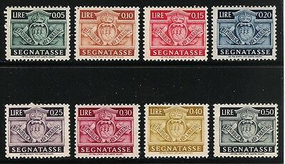 SAN MARINO 1943 Old Mint Postage Due Stamps - Coat of Arms