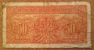 Allied Military Currency. 50 Groschen. Austria Banknote. 1944 Series