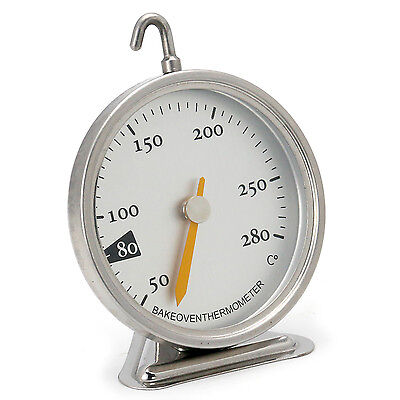 TRIXES 50 to 280 Degrees Celcius Metal Oven Heat Thermometer
