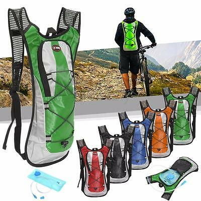 Outdoor Hiking Cycling Rucksack 5L Water Bladder Bag Backpack Hydration Packs AU