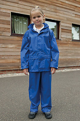 Result Core Unisex Junior Rain Suit-Children's Waterproof Jacket & Trouser R225J