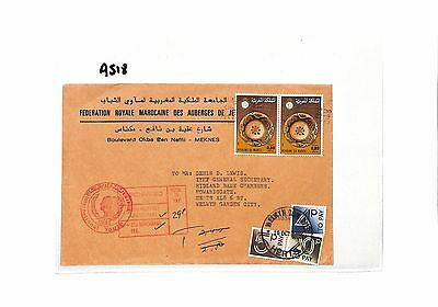 AS18 1985 MOROCCO to GB Cover. 29p Postage Due