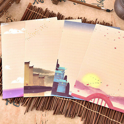1 set Cute Letter set Writing Stationary paper & Envelope for Postcard LetterHGX