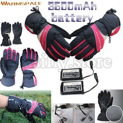 3600mAh Rechargeable Battery Electric Heated Hands Outdoor Ski Warmer Gloves