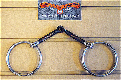 5 Inch CIRCLE Y HORSE TACK SNAFFLE MOUTH BIT-SWEET IRON