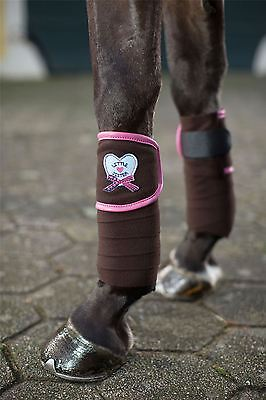HKM Polar Fleece Bandages -Paradiso- Leg wraps horse protection equestrian 7778