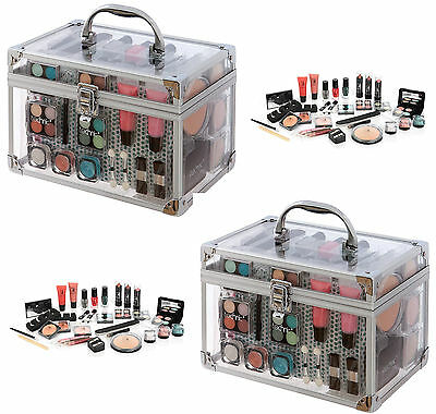 Large 50Pcs Technic Essentials Clear Carry Case Make Up Set Girls Christmas Gift