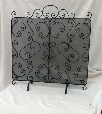 Really Nice Heavy Wrought Iron Fire Screen