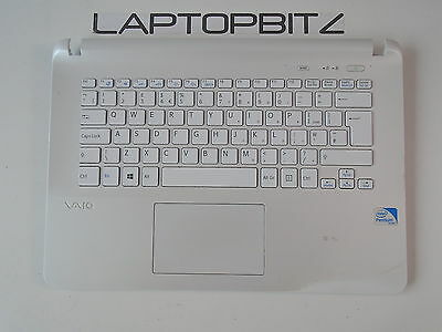 Sony SVF142 Series (SVF1421L1EW) Palmrest with Touchpad and Keyboard *CRACKED*