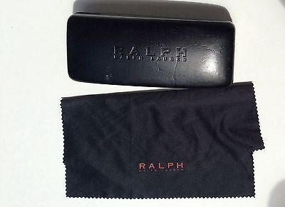 Ralph Lauren Sunglasses Case black Hard Sided and cleaning cloth