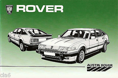 Rover SD1 Vitesse and Vanden Plas Owners Handbook *NEW