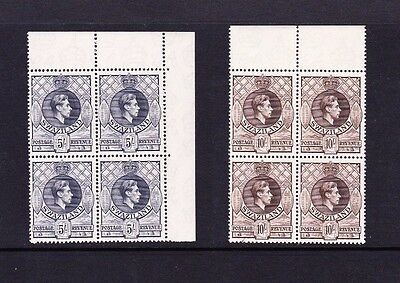 SWAZILAND 1938-54 COMPLETE SET IN BLOCKS OF FOUR SG 28a-38a MNH.