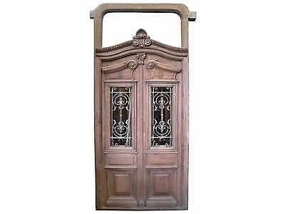 Double Entry Door with Transom #C1310