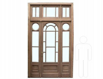 Antique Single Door w/ Sidelights & Transom #C1306