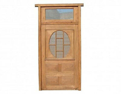 Single Door w/ Glass & Transom #A0033