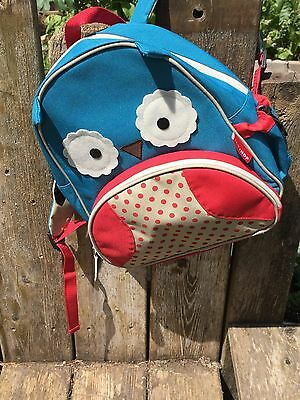 SKIP HOP  Zoo  Owl Backpack Book Bag  Boys Girls / Unisex  Age 1 - 4  Polyester