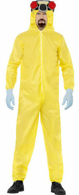 Fancy Dress Mens Breaking Bad Yellow Walter & Jesse Hazmat Costume 20498