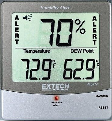 Extech 445814 Humidity Alert Hygro-Thermometer with Dew Point