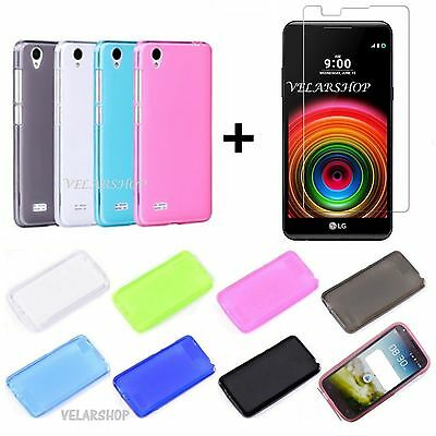 CUSTODIA COVER TPU GEL SILICONE per LG X POWER K220 + PELLICOLA VETRO TEMPERATO