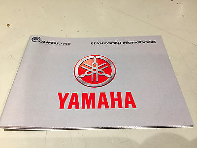Yamaha Motorcycle Service  and Warranty Record Book. Blank and Unmarked.