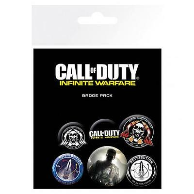 Official Licensed Product Call Of Duty Infinite Warfare Button Badge Set Gift