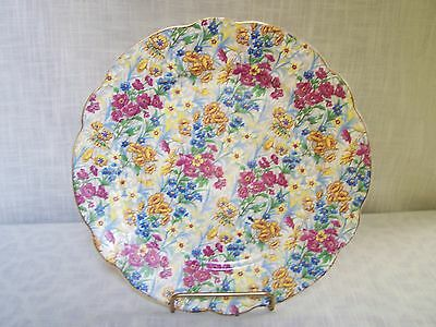 """Sussex Cheery Chintz Floral Plate Germany 9 3/4"""""""