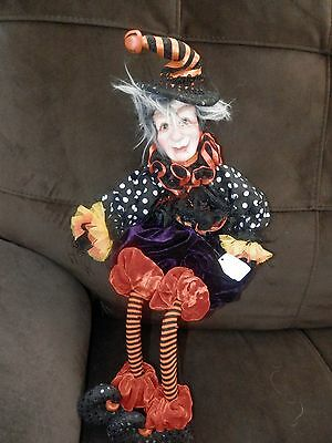 "Katherines Collections Halloween Elf Shelf Sitter Decor 18'"" Bendable Legs"