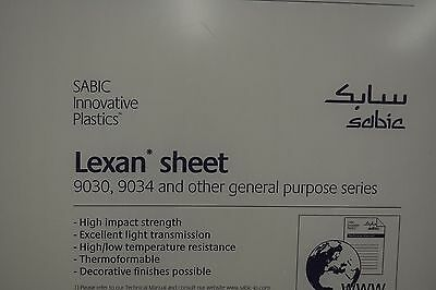 "LEXAN SHEET  POLYCARBONATE CLEAR 3/16"" x 12"" x 6"""