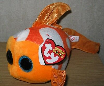 Ty Beanie Boos - Sami The Orange Goldfish - New With Ty Tags - Genuine Product