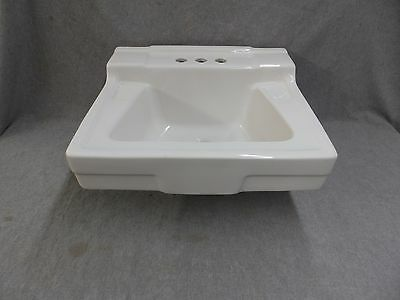 Vtg Mid Century White Ceramic Bathroom Sink Old Gerber Plumbing 1931-16