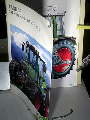 Beau Catalogue Tracteur Agricole Fendt 1996 Serie Farmer 307 308 309 310 311 312