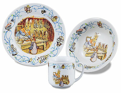 150th Anniversary-Peter Rabbit - Porcelain Dining Set - Mug/Bowl/Plate - Reutter