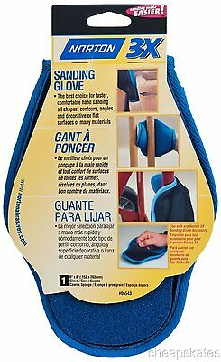 "Norton 80-14789 Sanding Glove for Wood Working/Finishing #05543 6""x8"""