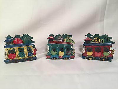 Caribbean Style Napkin Holders Lot Of 3