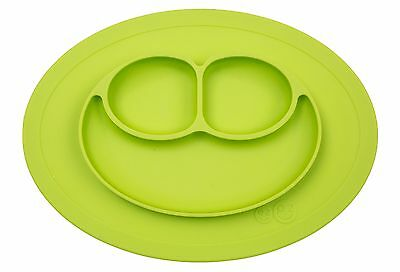 ezpz Mini Mat - One-piece silicone placemat + plate (Lime) Lime