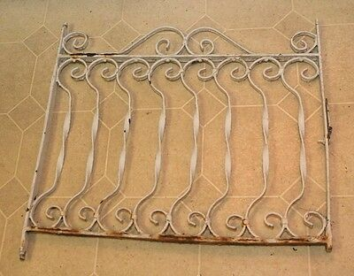 "Antique Vintage Cast Iron Painted Window Grate Philadelphia PA ~26.5""x25.5"""