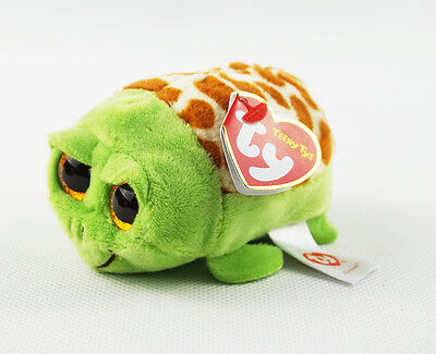 """4"""" TY Teeny Tys Cruiser Turtle Girl Gift With Tag Plush Stuffed Toys"""