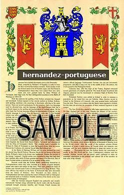 HERNANDEZ Armorial Name History - Coat of Arms - Family Crest GIFT! 11x17