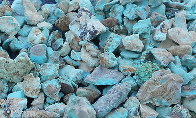 1/3 pound lb NATURAL Small Blue Turquoise rough nuggets good for cabs or inlay.