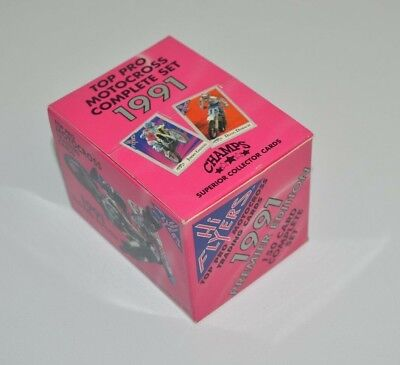 Champs Hi Flyers Top Pro Motocross Trading Cards Complete 1991 Premier Sealed