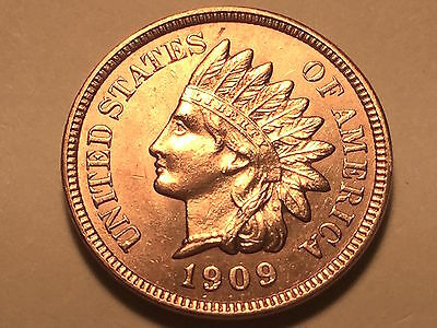1909-S Indian Head Cent * Penny * Ch/Gem BU Red *