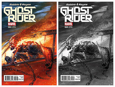 Now Ghost Rider #1 Frankie's Comics Gabriele Dell'Otto Variant Color & Bw
