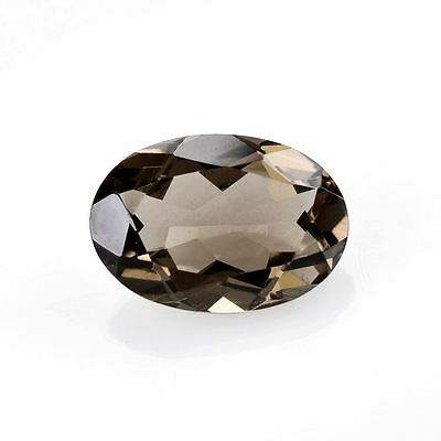 A PAIR OF 8x6mm OVAL-FACET NATURAL AFRICAN SMOKEY QUARTZ GEMSTONES