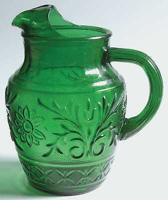 Anchor Hocking SANDWICH FOREST GREEN 37 Oz Ice Lipped Juice Pitcher 6568