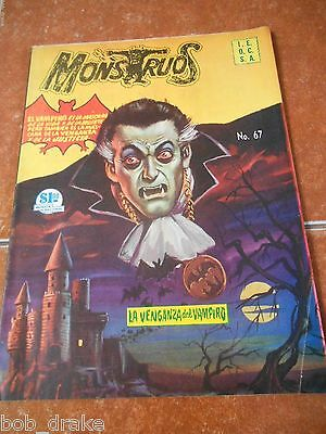 1964 THE VAMPIRE comic MONSTRUOS HORROR famous MONSTERS mexican VINTAGE dracula