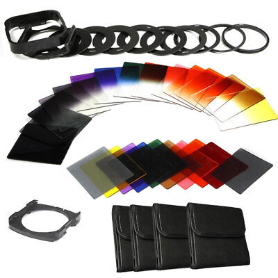 40in1 Full Kit Square ND2 4 8 16 +Color Filter +Adapter+Holder+Rings for Cokin P